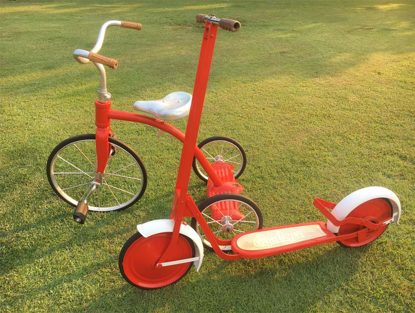 Restored Cyclopes Scooter and Trike